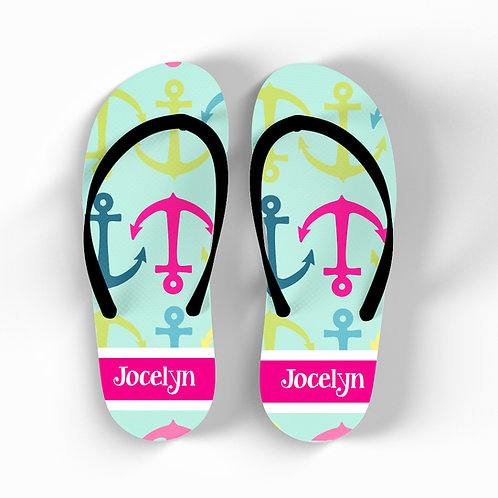 Anchor - Personalized Flip Flops