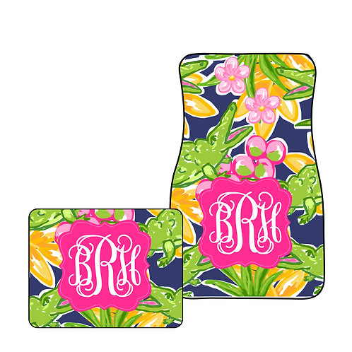 Alligator Beach - Personalized Car Mats