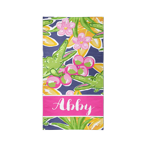 Lily - Personalized Beach Towel