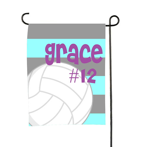 Play Ball - Personalized Volleyball Garden Flag