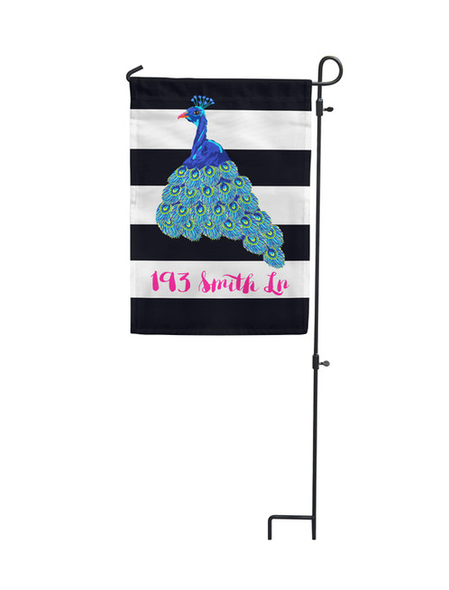 Decorate your yard or garden with a personalized flag from Tin Tree Gifts. Add distinctive touch to and display family pride Peacock - Garden Flag