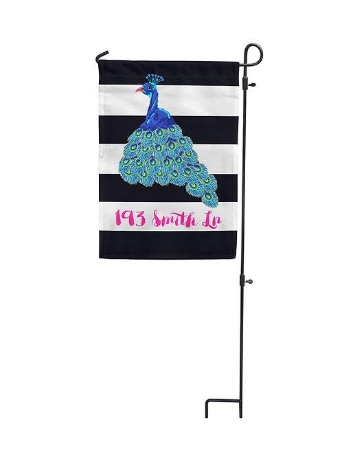 Peacock - Garden Flag