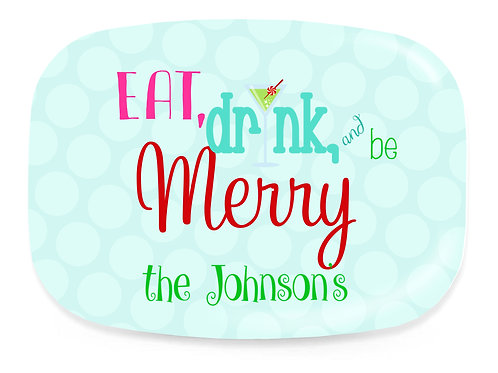 Be Merry- Personalized Christmas Platter