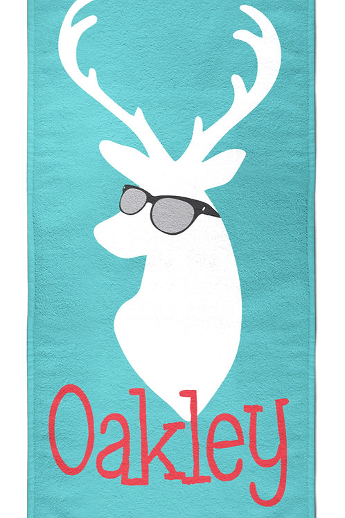 Cool Deer- Personalized Beach Towel