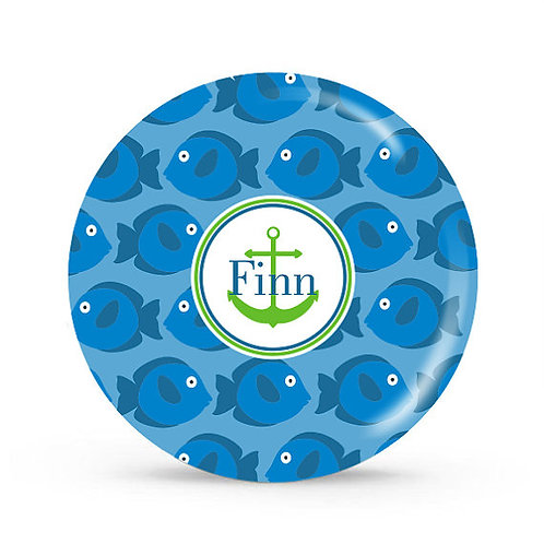 Fishies - Personalized Plate For Kids