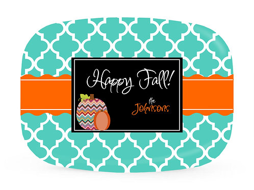 Happy Fall - Personalized Fall Platter