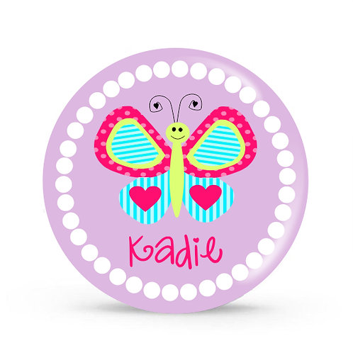 Butterfly - Personalized Plate For Kids