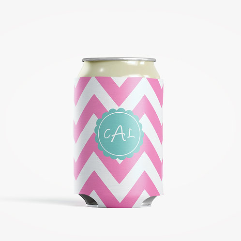 Pink - Personalized Can Insulator Coolie
