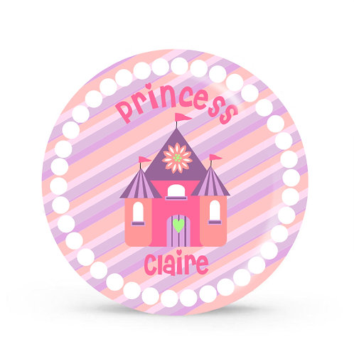 Princess Castle - Personalized Plate For Kids
