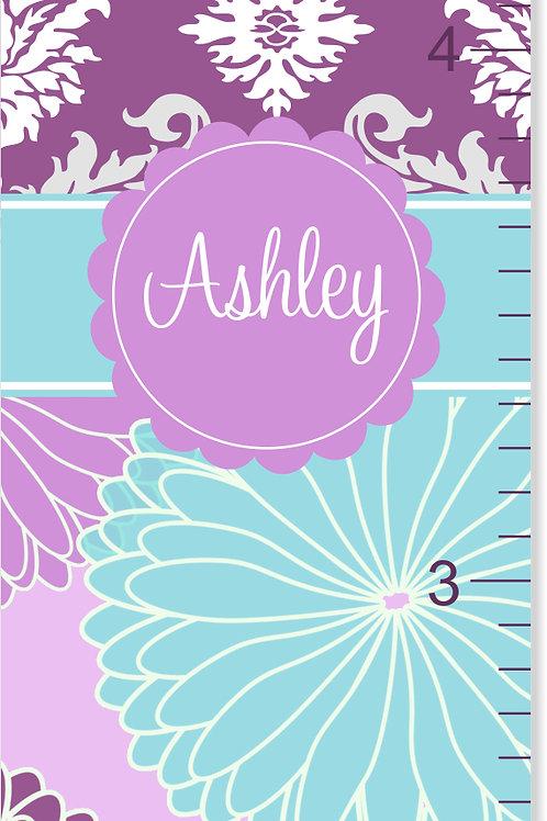 Purple Flower Burst - Personalized Growth Chart