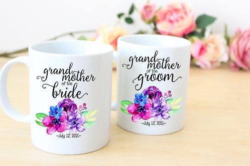 Grandmother of the Bride - Ceramic Coffee Mug Set