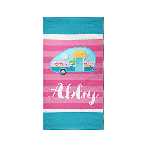 Camping - Personalized Beach Towel