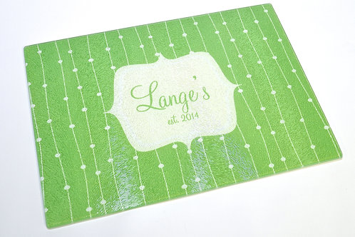 Green Vines - Personalized Glass Cutting Board