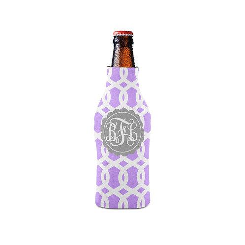 Purple Trellis - Personalized Bottle Insulator