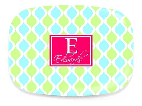 Spring Trellis - Personalized Platter