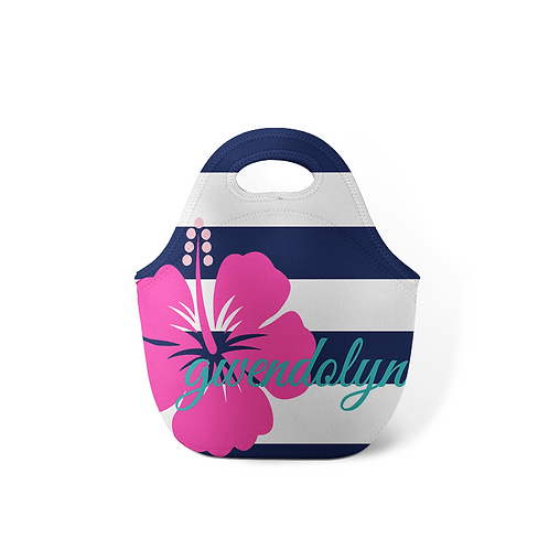 Hibiscus - Personalized Lunch Tote