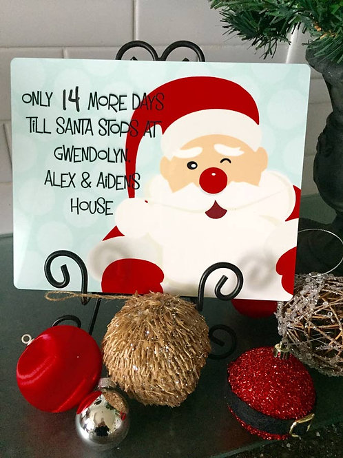 Santa  - Personalized Christmas Countdown