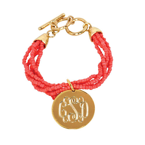 Bead Charm Bracelet- Personalized Monogram Jewerly