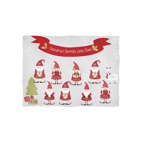 Grandma's Little Elves - Personalized Christmas Throw Blanket