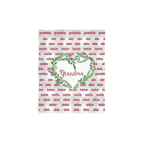 Grandma Legacy - Personalized Christmas Throw Blanket
