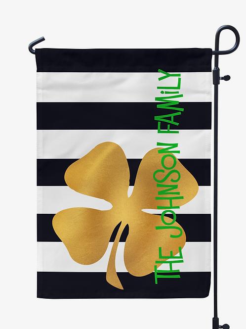 Gold Shamrock - St. Patricks Day Garden Flag