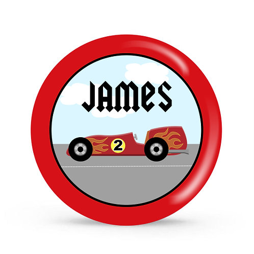 Race Car - Personalized Plate For Kids