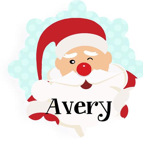 Jolly Santa - Personalized Christmas Ornament