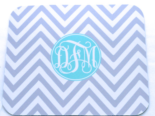 Gray Chevron - Personalized Mouse Pads