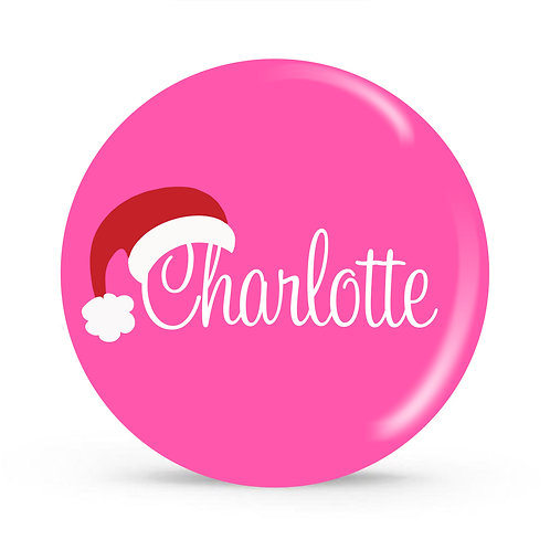 Sanata Hat - Personalized Christmas Plate
