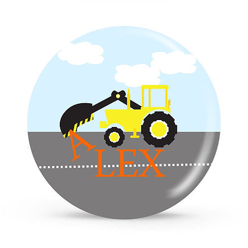 Digger - Personalized Plate For Kids
