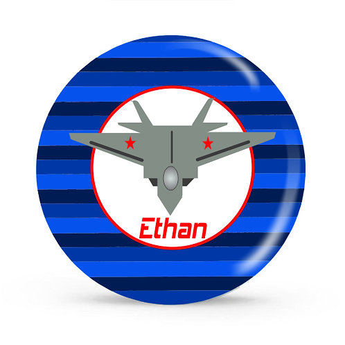Fighter Jet - Personalized Plate For Kids