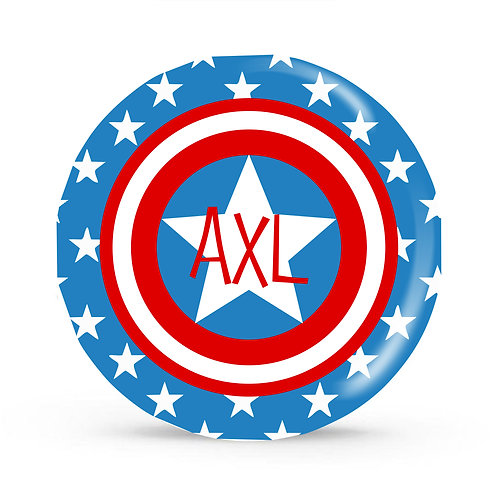 Captain America - Personalized Plate For Kids