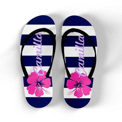 Hibiscus - Personalized Flip Flops
