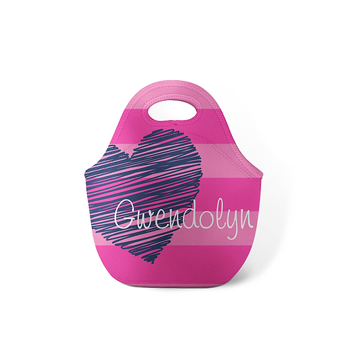 Heart - Personalized Lunch Tote