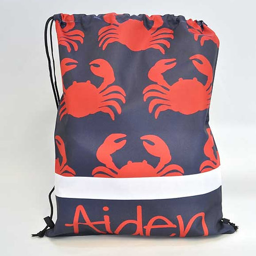 Crabby - Personalized Draw String Bag