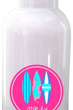 Surfer Girl - Personalized Water Bottle Item #WB33