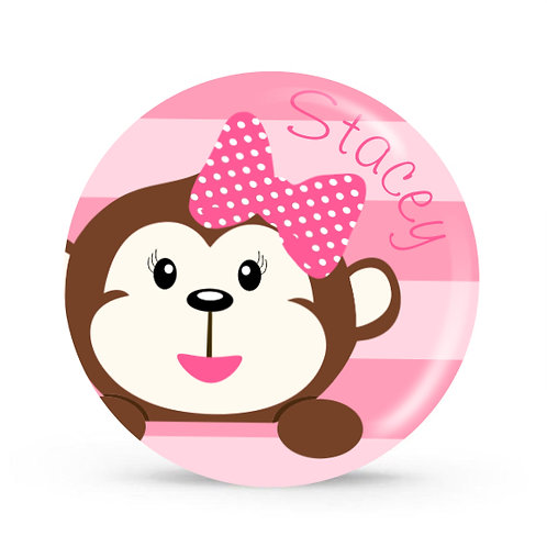Monkey Business - Personalized Plate For Kids