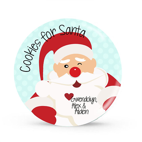 Cookies for Santa - Personalized Christmas Plate
