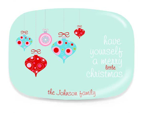 ornaments personalized christmas platter personalized gifts
