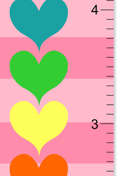 Hearts - Personalized Growth Chart