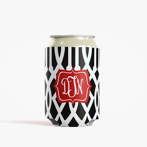 Roman Trellis - Personalized Can Insulator Coolie