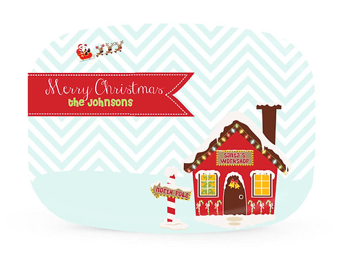 North Pole - Personalized Christmas Platter