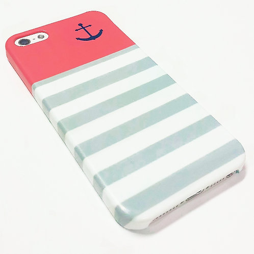 Red Anchor - iPhone Wrap Around Cell Phone Case