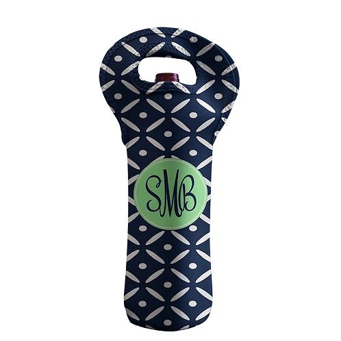 Diamond Plate - Personalized Wine Bottle Tote