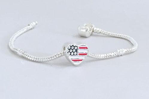 Hearts- Charm Bead Bracelet