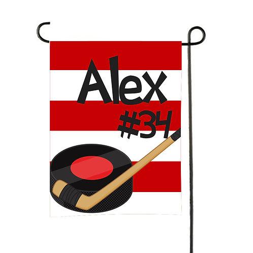 Puck Drop - Personalized Hockey Garden Flag