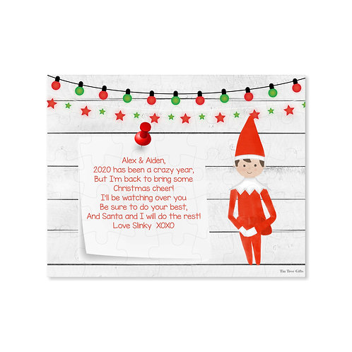Boy Elf - Personalized Christmas Puzzle
