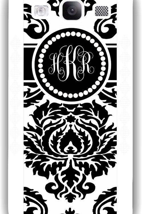 Black Damask - Personalized Galaxy S3 Case