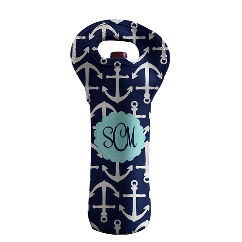 Anchors - Personalized Wine Bottle Tote