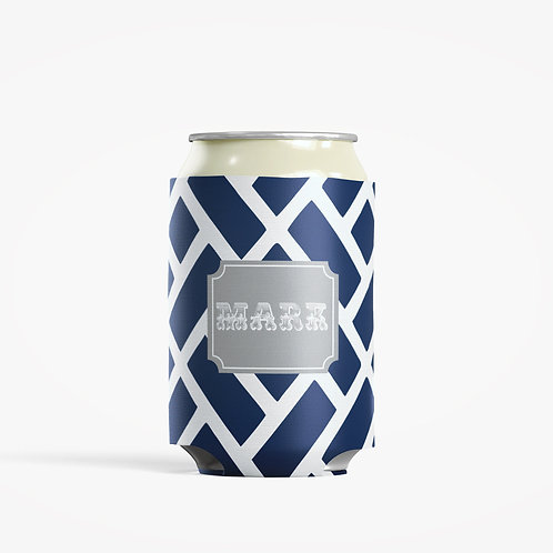 Blue Chain - Personalized Can Insulator Coolie